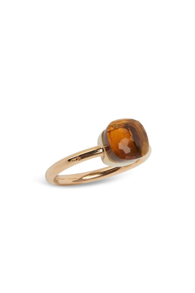Pink Gold Small Madera Quartz Ring