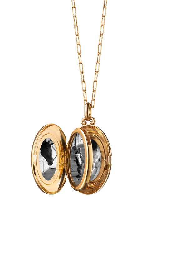 Monica Rich Kosann 18K Yellow Gold Moyen Locket Necklace
