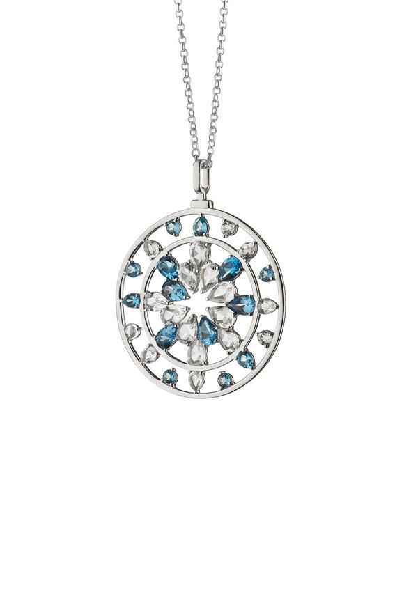 Monica Rich Kosann Silver Topaz & Crystal Kaleidoscope Necklace