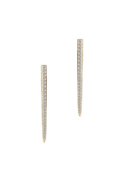 Elizabeth & James - Northern Star Yellow Gold White Topaz Earrings