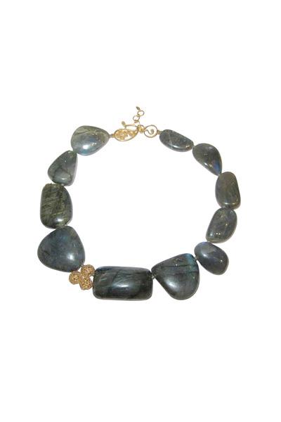 Coomi - Yellow Gold Labradorite Diamond Affinity Necklace