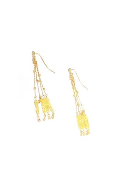 Coomi - Gold Yellow Sapphire Diamond Affinity Earrings
