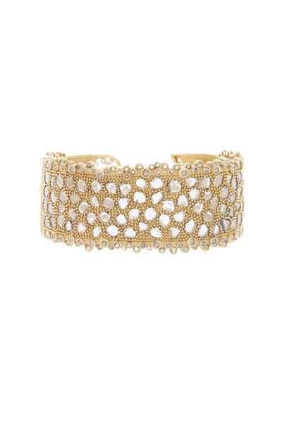 Coomi - Gold Flat Rose-Cut Diamond Eternity Bracelet