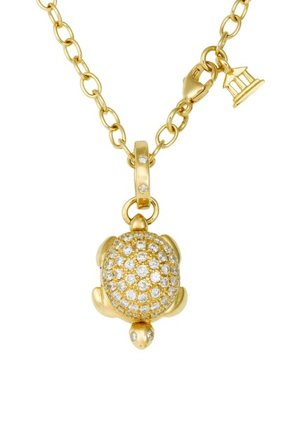 Temple St. Clair - Yellow Gold Pavé-Set Diamond Turtle Locket