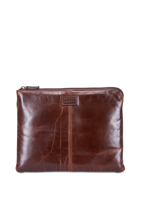 Moore & Giles Tucker Brown Leather Tablet Pocket