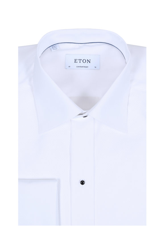 Eton White French Cuff Contemporary Fit Tuxedo Shirt