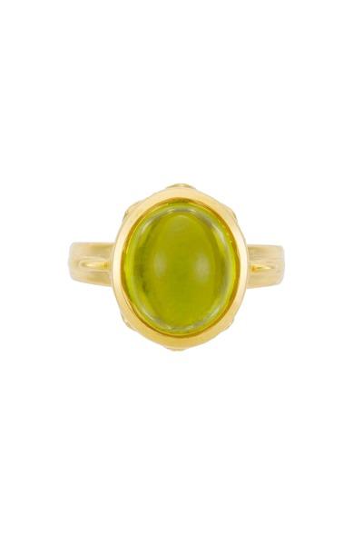 Temple St. Clair - Arcadia Yellow Gold Peridot Diamond Ring