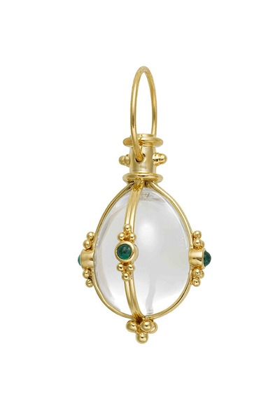Temple St. Clair - 18K Yellow Gold Crystal & Emerald Amulet