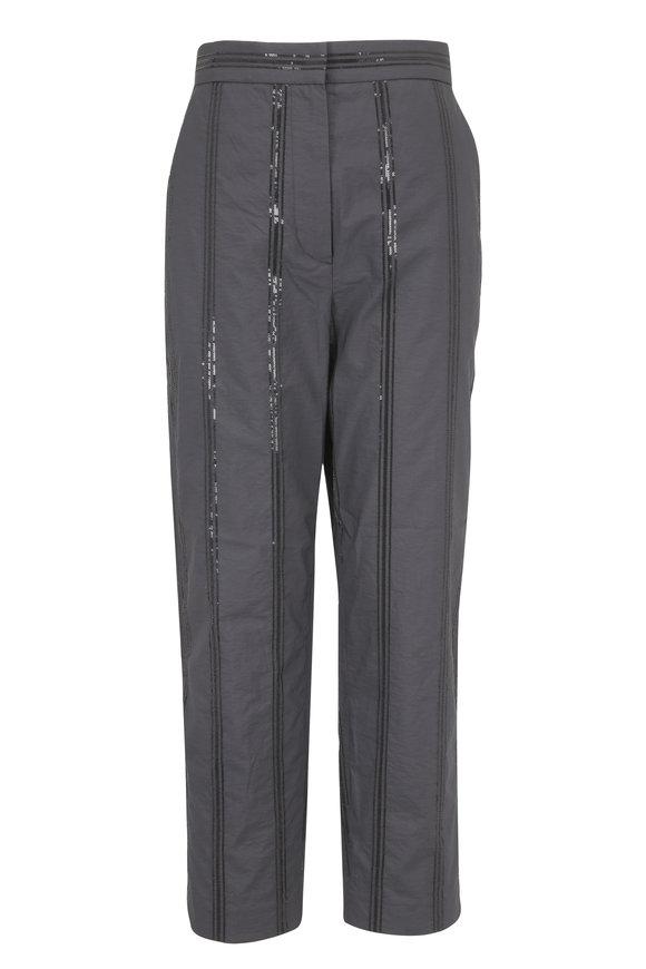 Brunello Cucinelli Volcano Cotton Pailette Striped Pant