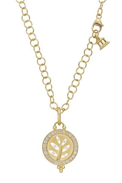 Temple St. Clair - Yellow Gold Tree Of Life Diamond Pendant
