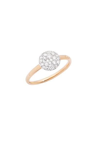 Pomellato - Sabbia 18K Rose Gold White Diamond Ring