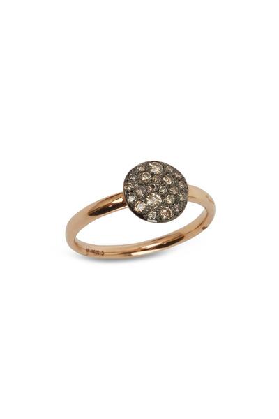 Pomellato - Sabbia 18K Rose Gold Brown Diamond Ring