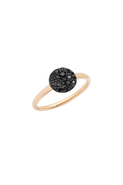 Pomellato - Sabbia 18K Rose Gold Black Diamond Ring