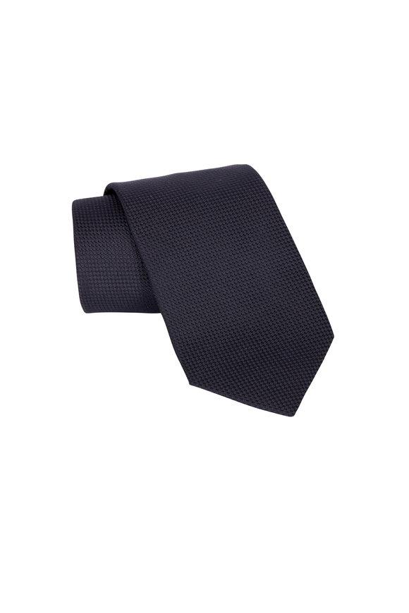 Eton Black Silk Evening Necktie
