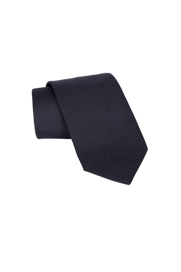 Eton Black Silk Evening Necktie