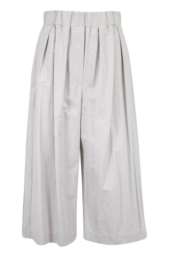 Brunello Cucinelli Steel Cotton Pull-On Culottes