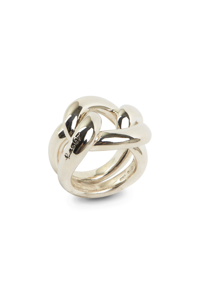 Milano Gourmette Sterling Silver Knot Ring
