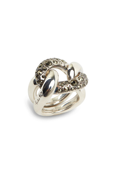 Pomellato - Burnished Sterling Silver Gourmette Ring