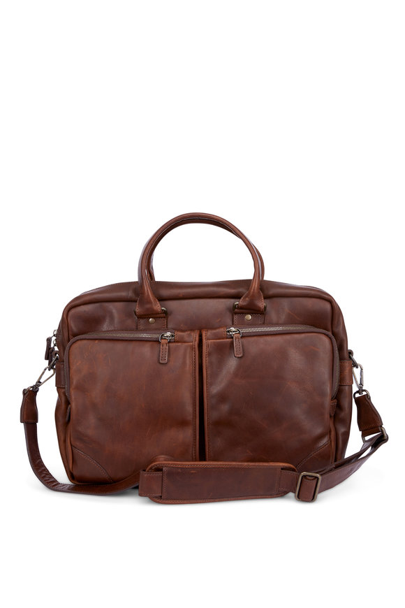 Moore & Giles Haythe Oak Leather Commuter Bag