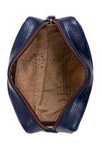 Moore & Giles - George Navy Leather Mini Dopp Kit