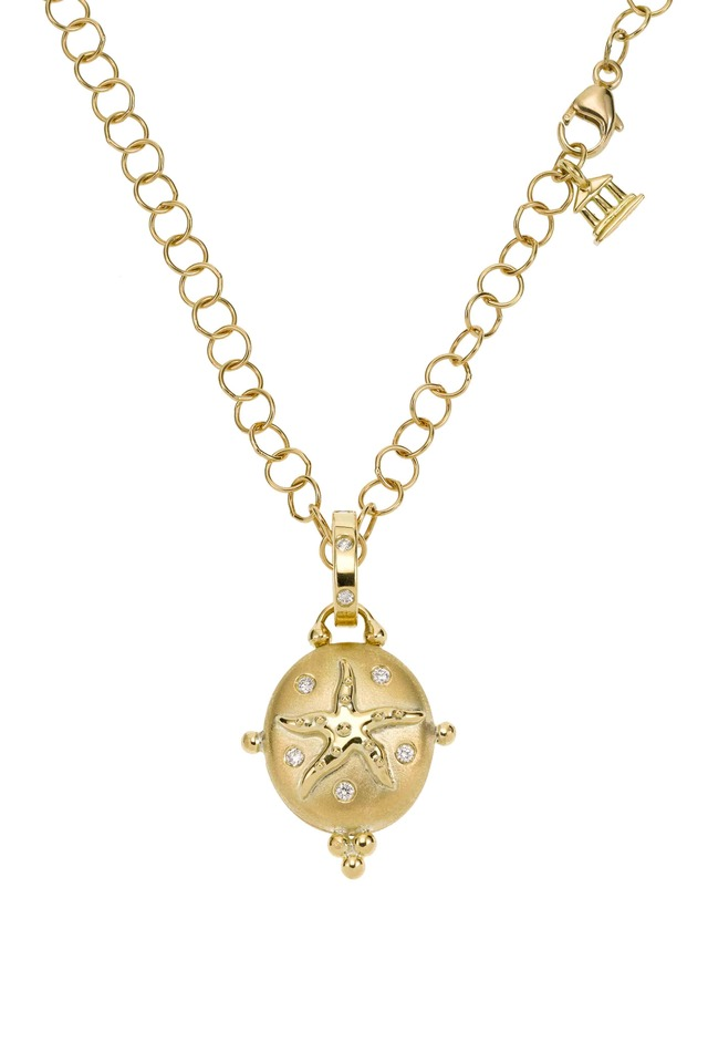 Yellow Gold Starfish Locket Pendant