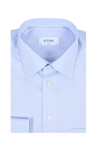 Eton - Solid Light Blue Classic Fit Dress Shirt