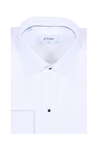 Eton - White French Cuff Slim Fit Tuxedo Shirt