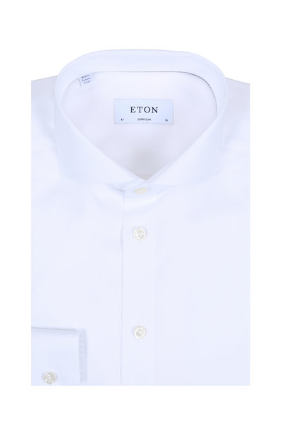 Eton - Solid White Super Slim Fit Dress Shirt