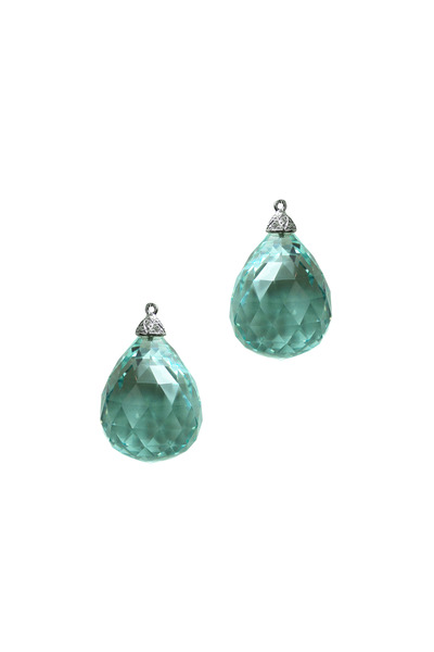 Paolo Costagli - White Gold Aqua Biolette Diamond Earrings