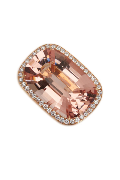 Paolo Costagli - Rose Gold Morganite Diamond Ring