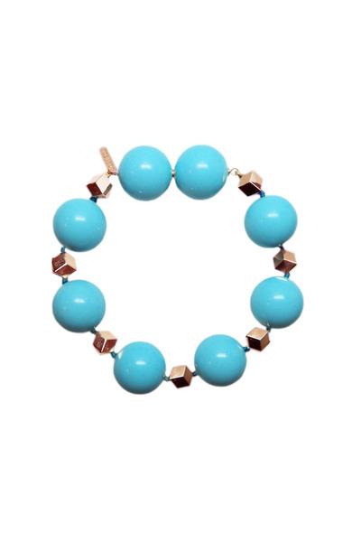 Paolo Costagli - Brilliante Rose Gold Turquoise Bracelet