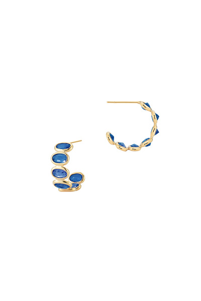 Paolo Costagli - Ombre Yellow Gold Blue Sapphire Small Hoops