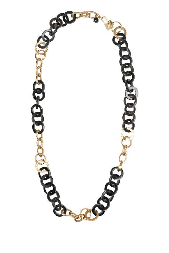 Ashley Pittman Mawani Dark & Light Horn Necklace
