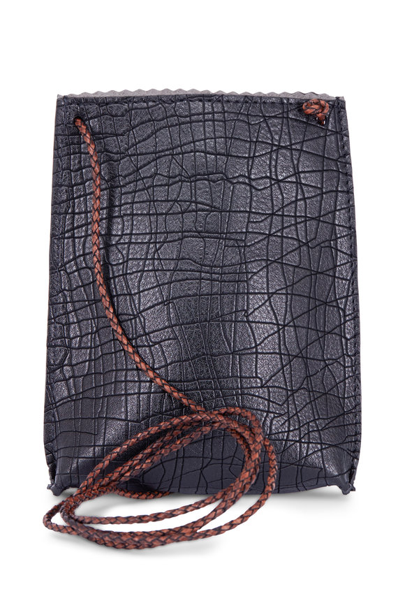 B May Bags Black Doodle Embossed Cell Pouch