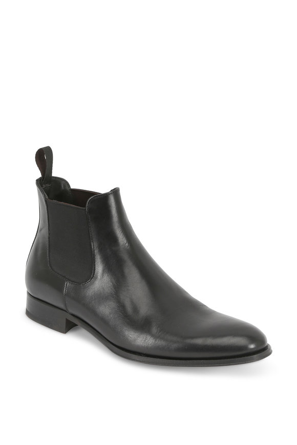 To Boot New York Toby Black Leather Chelsea Boot