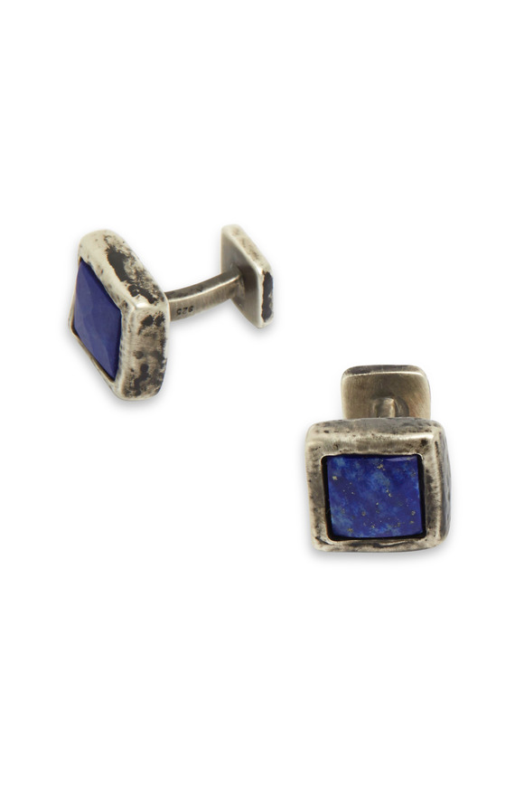 Robin Rotenier Sterling Silver Lapis Cuff Links