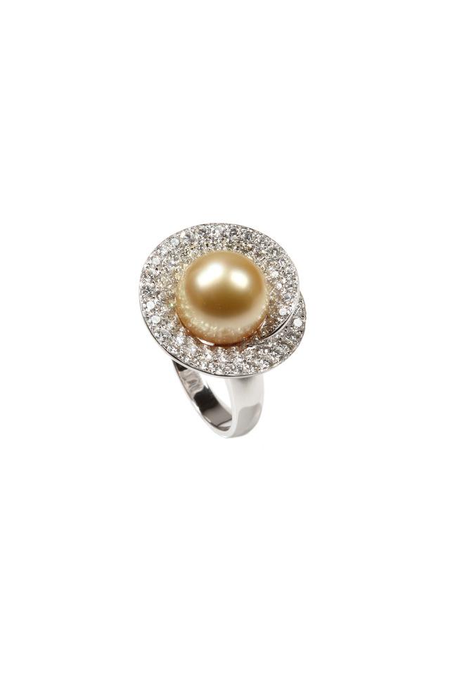 White Gold White South Sea Diamond Ring