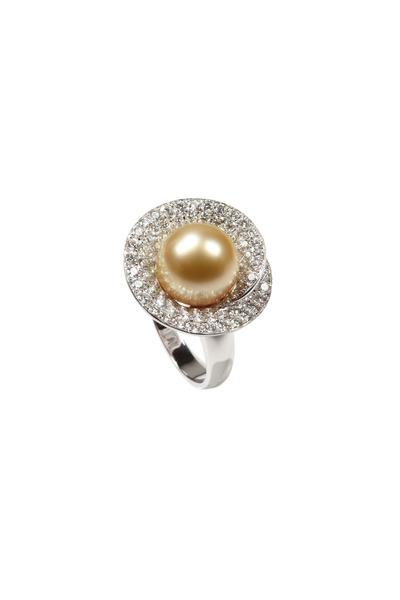 Assael - White Gold White South Sea Diamond Ring