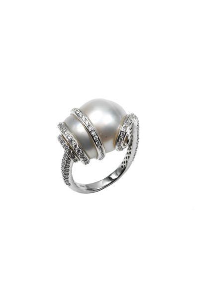 Assael - White Gold South Sea Pearl Diamond Ring