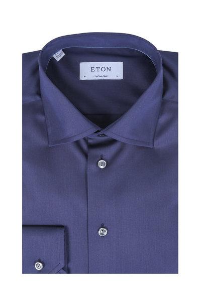 Eton - Dark Navy Contemporary Fit Dress Shirt
