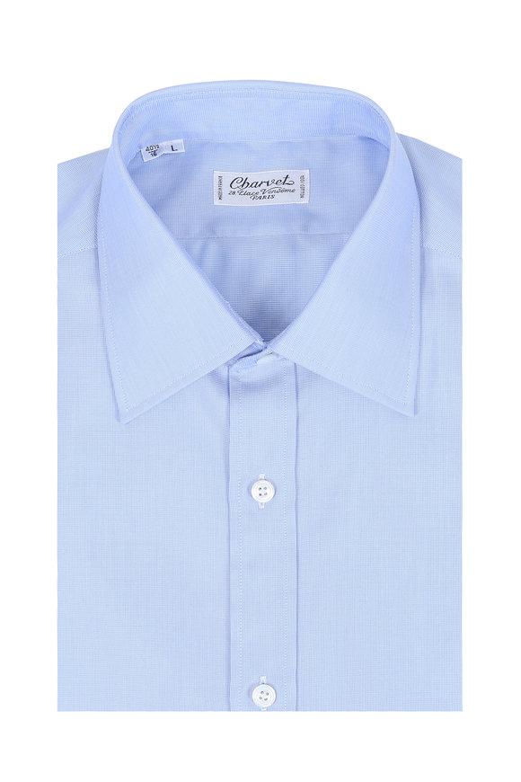Charvet Light Blue Birdseye Dress Shirt