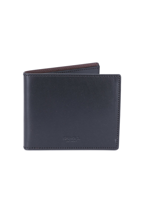 Shinola Black Classic Bi-Fold Wallet