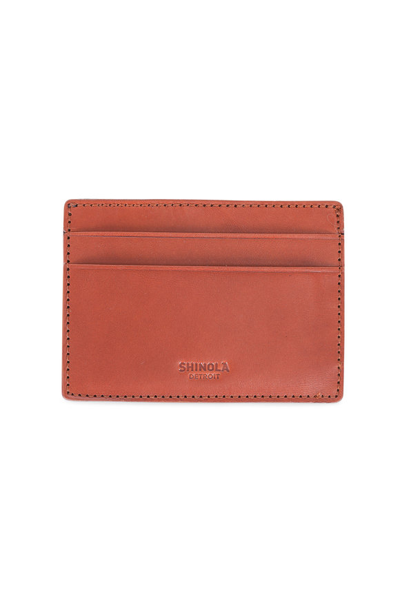 Shinola Bourbon Six Pocket Card Case