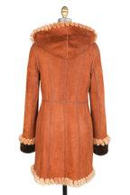Viktoria Stass - Sandal Brown Brisa Shearling Hooded Coat