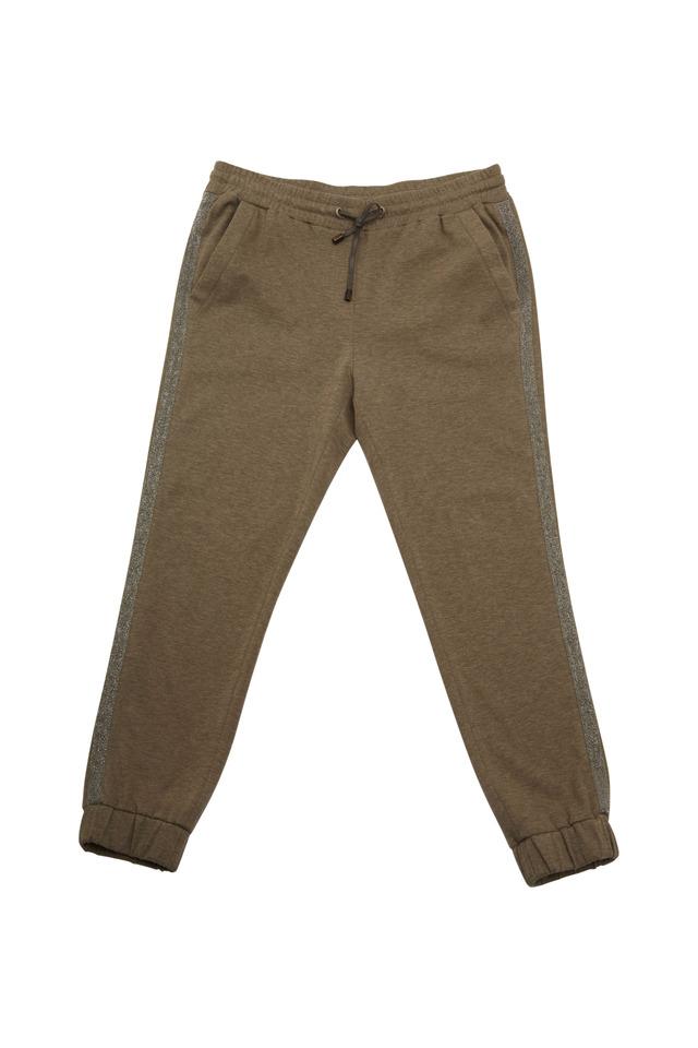 Military Green Felpa Monili Sweatpants