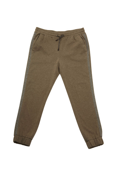 Brunello Cucinelli - Military Green Felpa Monili Sweatpants
