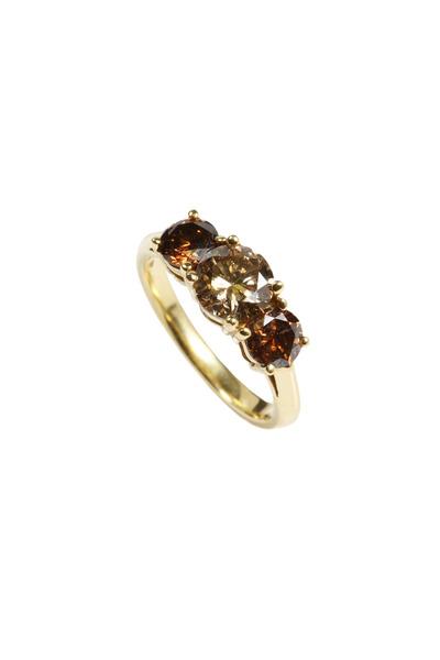 Assael - Yellow Gold Fancy Diamond Ring