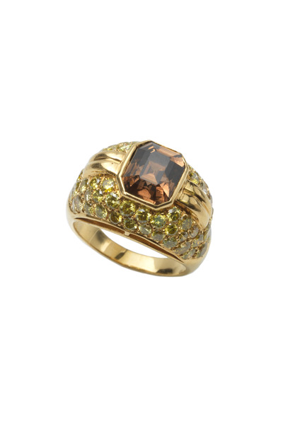 Assael - Yellow Gold Natural Diamond Ring