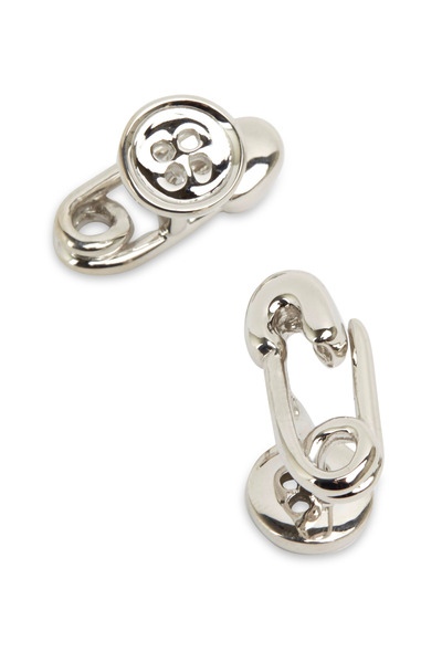 Robin Rotenier - Sterling Silver Safety Pin & Button Cuff Links