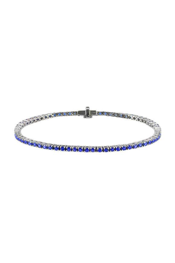 Nam Cho 18K White Gold Sapphire & Diamond Bracelet